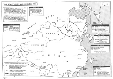 Russland und SU 1860-1970: Konfrontation mit                   China, Karte